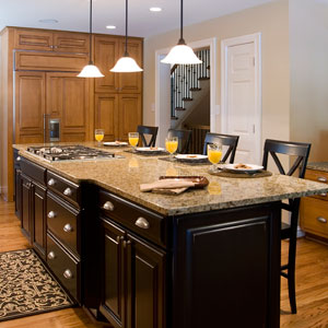 Downstairs Kitchen Island addition Roeser Home Remodeling