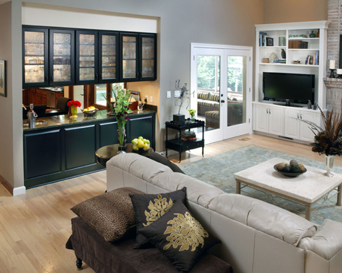 Living room remodel family room remodel St. Louis