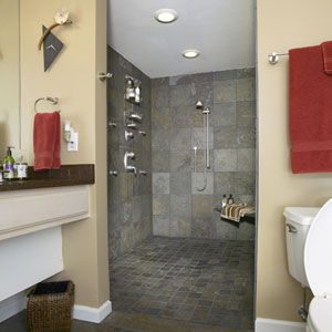 Lower Bath walking shower Roeser Home Remodeling