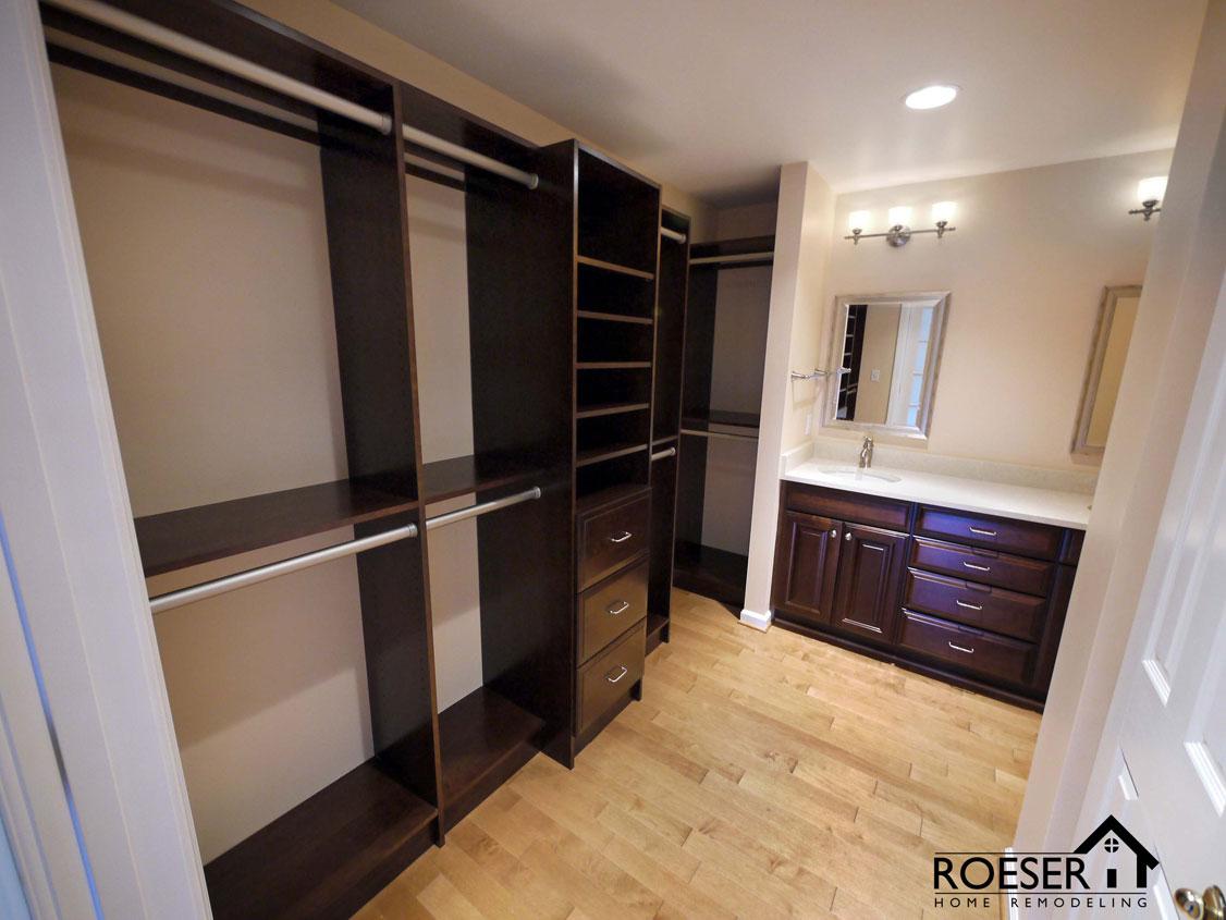 Master men/women closet remodel Roeser Home Remodel St. Louis