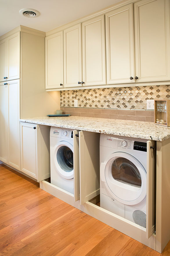 St. Louis Kitchen washer and dryer open remodel- Roeser Home Remodeling