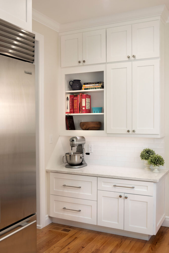 All White Kitchen Remodel With Storage