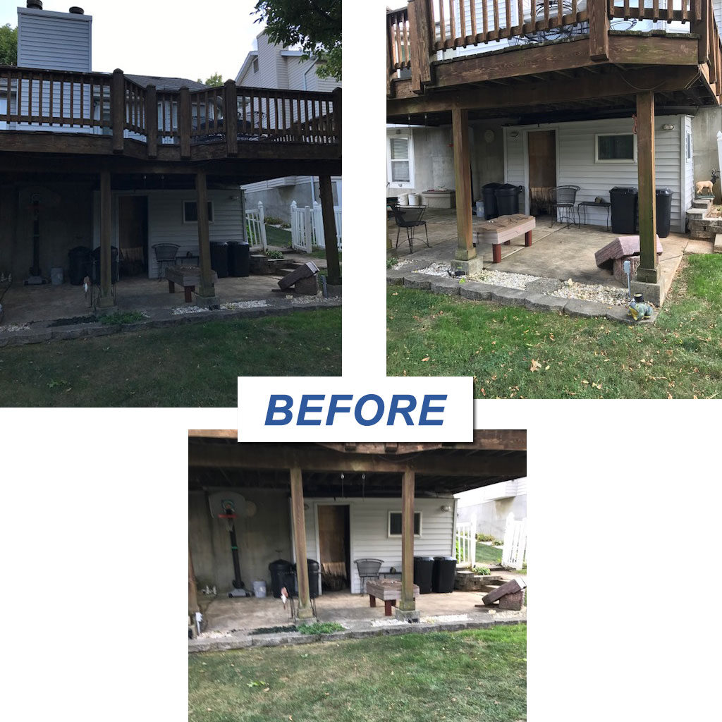 Home     Home Addition, bedroom, and deck before